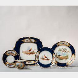 Rihouet Paris Hand-painted Porcelain Dessert Service