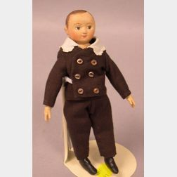 "Miniature Cloth Izannah Walker Boy Doll by ""True Friends"""