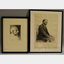 Samuel Johnson Woolf (American, 1880-1948)      Lot of Two Portraits: Roald E. G. Amundsen