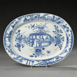 Blue and White Export Porcelain Platter