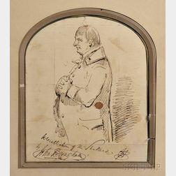 Pen an Ink Portrait of a Shaker Gentleman