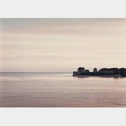 John Pfahl (American, b. 1939)      Two Photographs: Sunset on Fort Niagara
