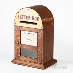 British Oak and Brass Letter Box