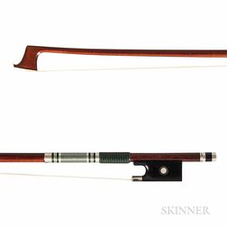 French Silver-mounted Violin Bow, Eric Grandchamp