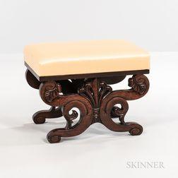 Classical Upholstered Mahogany Ottoman