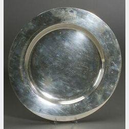 Sterling New York Racing Association Trophy Platter