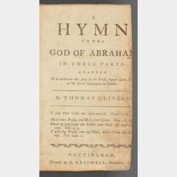 "Olivers, Thomas, ""A Hymn to the God of Abraham"""