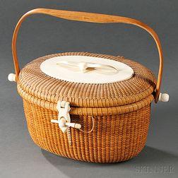 Large Nantucket Friendship Basket Purse