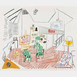 David Hockney (British, b. 1937)      Pembroke Studio Interior