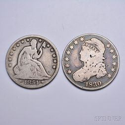 Five American Silver Coins