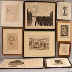 Approximately Sixteen Works Including Anne Allen, Fuseli Parker, Ole Larrsen, and Chaim Gross