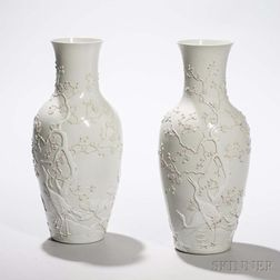 Pair of Blanc-de-Chine Vases
