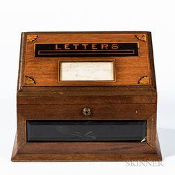 British Mahogany Letter Box
