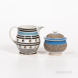 Two Pieces of Slip-decorated Pearlware
