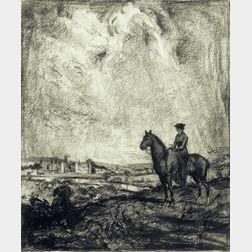 Albert Edward Sterner (American, 1863-1946)    Woman on Horseback
