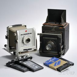 Calumet 4x5 Monorail Camera and Accessories