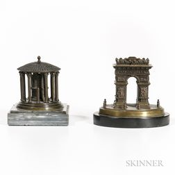 Two Grand Tour Architectural Bronzes