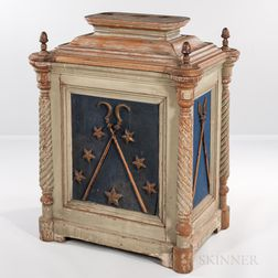 Gray- and Blue-painted Odd Fellows Altar
