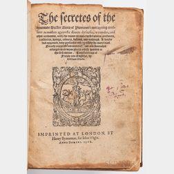 [Ruscelli, Girolamo[ (1518-1566) The Secretes of the Reverend Maister Alexis of Piemount.