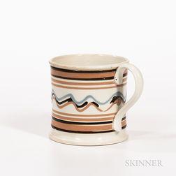Large Slip-decorated Pearlware Mug