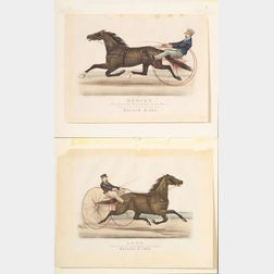 Currier & Ives, publishers (American  1857-1907)    Lot of Two:  BODINE.