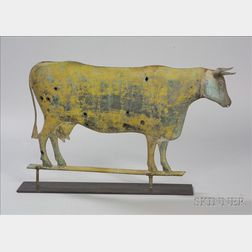 Molded Copper and Zinc Cow Weather Vane