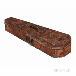 American Leather-bound Coffin Violin Case