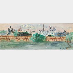 Jean Dufy (French, 1888-1964)      Paris, Le Pont-Neuf