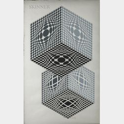 Victor Vasarely (Hungarian/French, 1906-1997)      Vega Kocka