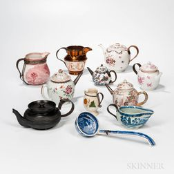 Eleven Make-do Porcelain or Pottery Pieces