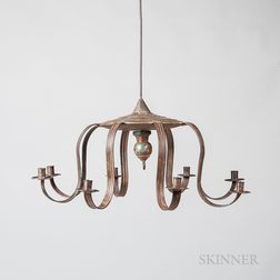 Tin Eight-arm Chandelier