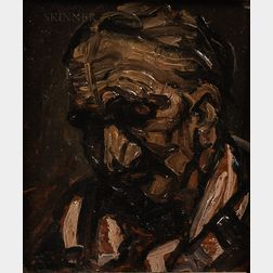 Attributed to Lovis Corinth (German, 1858-1925)      Head Study