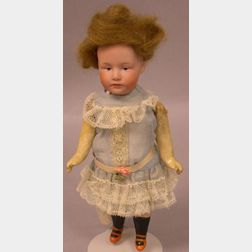 Heubach Bisque Socket Head Pouty Girl Doll