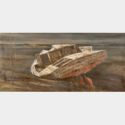 James Wingate Parr (American, 1923-1969)      Abandoned Dory