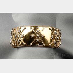 18kt Bicolor Gold and Diamond Cuff Bracelet, GianCarlo Montebello