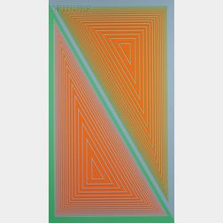 Richard Anuszkiewicz (American, b. 1930)      Triangulated Orange