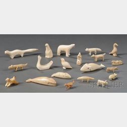 Group of Carved Ivory Animals