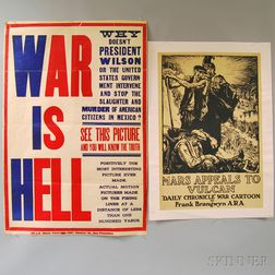 Two U.S. WWI Era Lithograph Posters