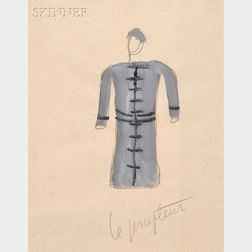 Fernand (Joseph Henri) Léger (French, 1881-1955)      Two Costume Designs from David Triomphant :  Le percepteur