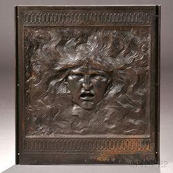 Elihu Vedder (American, 1836-1923) Samson Central Fireback Panel