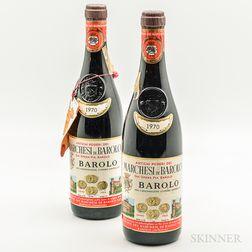 Marchesi di Barolo Barolo 1970, 2 bottles