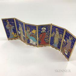 Miniature Cloisonne Six-panel Folding Screen