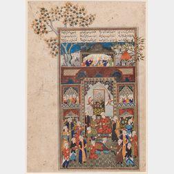 Safavid-style Miniature Painting
