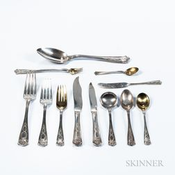 "Tiffany & Co. ""Winthrop"" Sterling Silver Flatware Service"