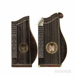 Two American Concert Zithers, Franz Schwarzer, Washington