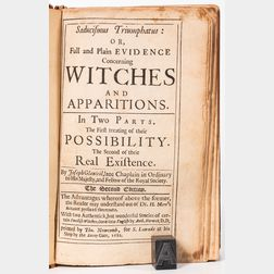 Glanvil, Joseph (1636-1680) Saducismus Triumphatus: or, Full and Plain Evidence Concenring Witches and Apparitions.