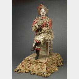 Clown On Chair (Clown su Chaise) Musical Automaton by Lambert