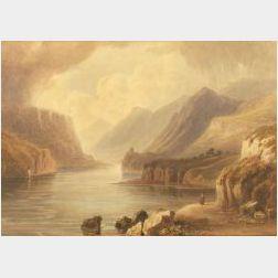 Attributed to John M. Heathcote (British, 1800-1892)  Pass of Llanberis