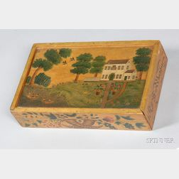 Academy Painted Slide-lid Pencil Box