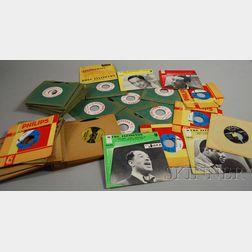 Thirty-eight Duke Ellington U.S. and Import 45s, with Three Cab Calloway and Al   Martino 45s
